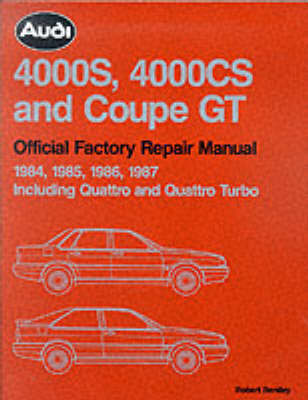 Audi 4000S, 4000CS and Coupe GT Official Factory Repair Manual 1984-1987 by Audi of America image