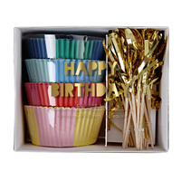Meri Meri - Happy Birthday Cupcake Kit (48 Pack)