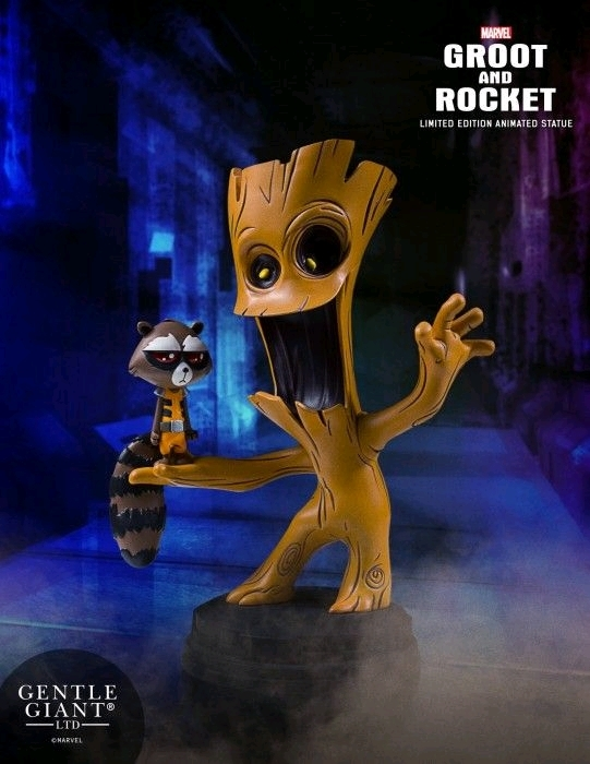 Guardians of the Galaxy - Groot & Rocket Animated Statue