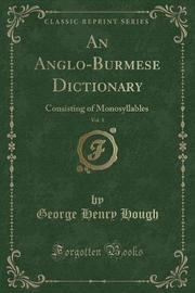 An Anglo-Burmese Dictionary, Vol. 1 by George Henry Hough image