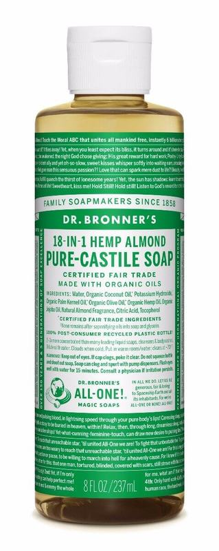 Dr. Bronner's Pure Castile Liquid Soap - Almond (236ml)