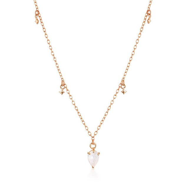 El & Ro: Lyra Necklace - Rose Gold