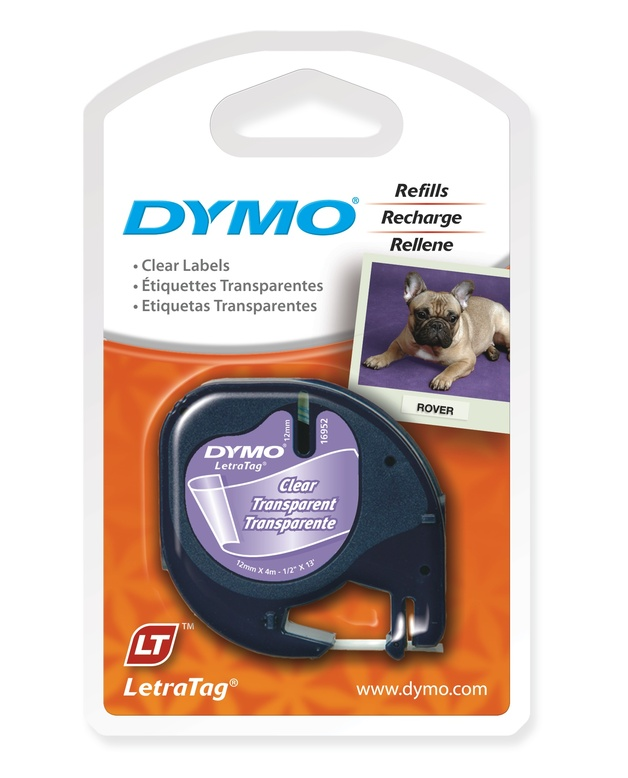 Dymo LetraTag Label Tape - 4m (Transparent)