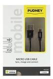 Pudney: USB A Plug To Micro USB Plug 1 Metre - Black