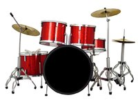 Axe Heaven: Miniature Replica - Classic Drum Set (Red Sparkle)