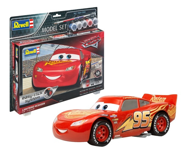 Revell: Lightning Mcqueen - 1:24 Scale Model Kit