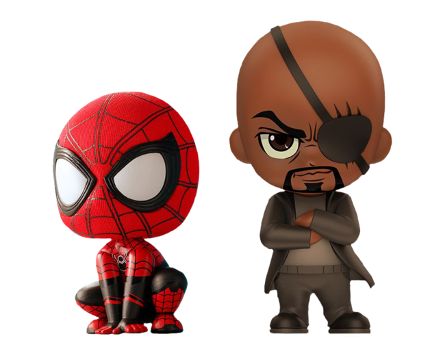 Spider-Man: Far From Home - Spider-Man & Nick Fury - Cosbaby Figure Set