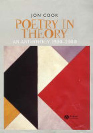 Poetry in Theory by Jon Cook