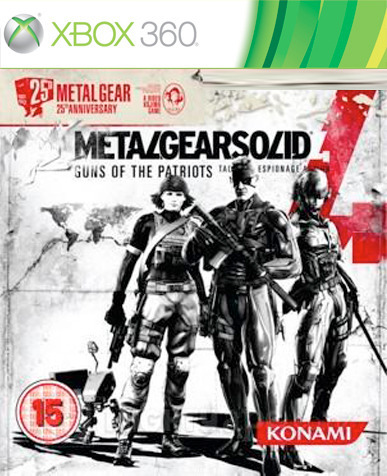 Metal Gear Solid 4: Guns of the Patriots 25th Anniversary Edition for Xbox 360