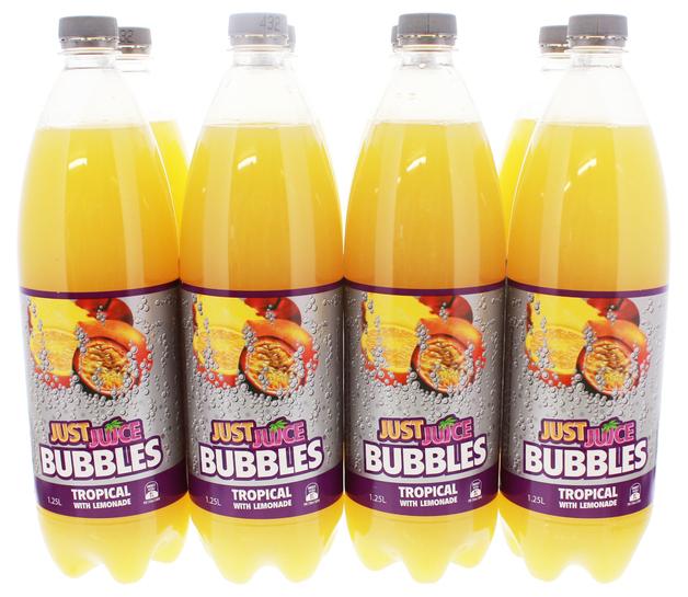 Just Juice Bubbles Tropical (1.25L)