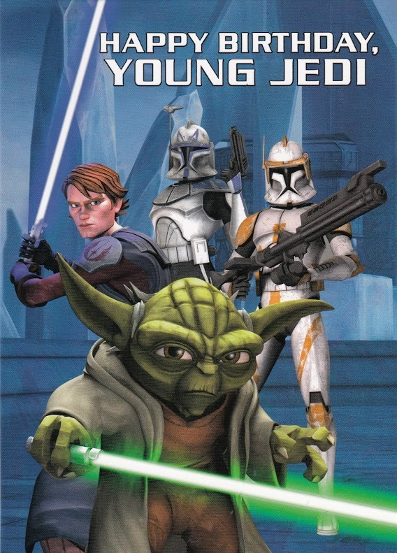 buy star wars birthday card  young jedi at mighty ape nz