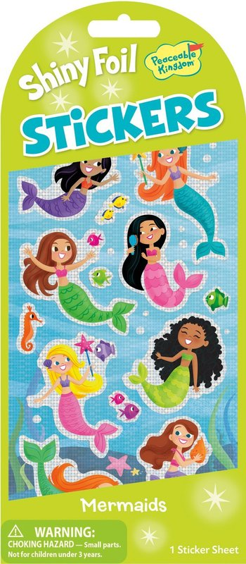 Peaceable Kingdom: Glitter & Foil Stickers - Mermaids
