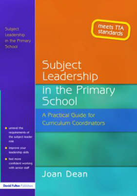 Subject Leadership in the Primary School by Joan Dean image