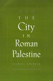 The City in Roman Palestine by Daniel Sperber image