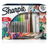 Sharpie 18 Pack Markers with Shoe Pencil Case