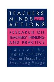 Teachers' Minds And Actions by Gunnar Handal image