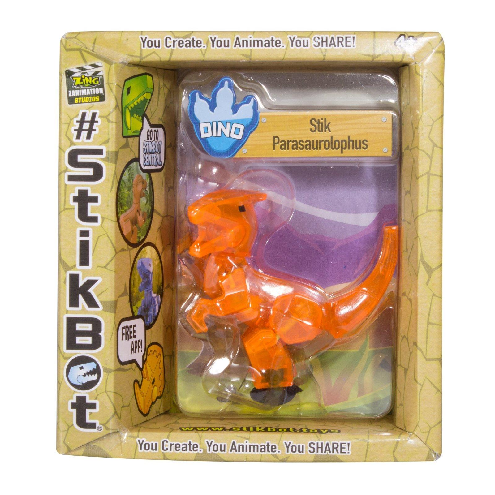 Stikbot: Dino Single - Parasaurolophus (Orange) image