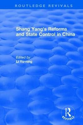 Revival: Shang yang's reforms and state control in China. (1977)