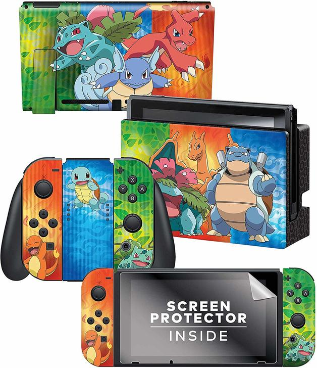 Controller Gear Officially Licensed Nintendo Switch Skin & Screen Protector Set – Pokemon for Switch