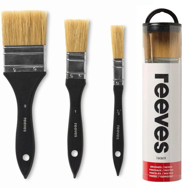 Reeves: Mixed Media Brush Set - Hog Spalter Assorted (Set of 3)