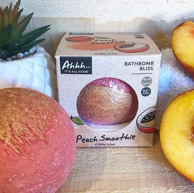 Ahhh Soaps Bath Bomb - Peach Smoothie (180g)