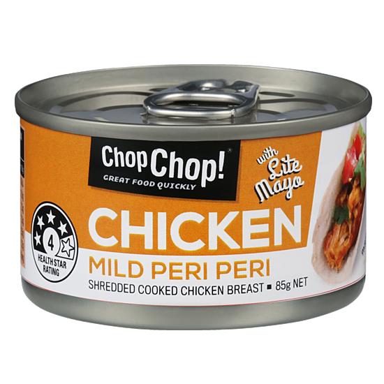 Chop Chop: Shredded Chicken - Mild Peri Peri with Lite Mayo 85g (12 Pack) image
