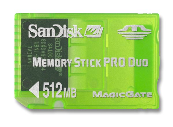 SanDisk Memory Stick Pro Duo 512 MB (Green) image
