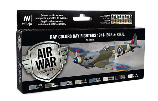 Vallejo RAF Colors Day Fighters 1941-1945 & P.R.U.Paint Set