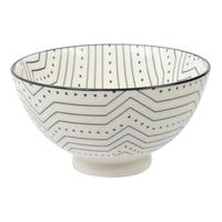 Etta Black and White Subo Small Bowl (11cm)