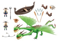 Playmobil: How to Train Your Dragon - Ruffnut, Tuffnut, Barf & Belch (9458)