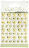 Teresa Collins - Gold Glam Enamel Metal Sticker Hearts