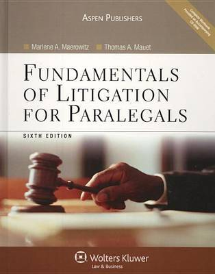 Fundamentals of Litigation for Paralegals by Marlene A Maerowitz image