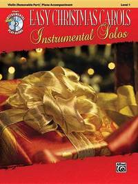 Easy Christmas Carols Instrumental Solos for Strings: Violin, Book & CD by Alfred Publishing