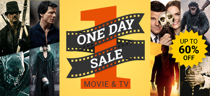 HUGE Movies & TV ONE DAY SALE!