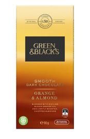 Green & Black's Smooth Dark Chocolate - Orange Almond (90g)