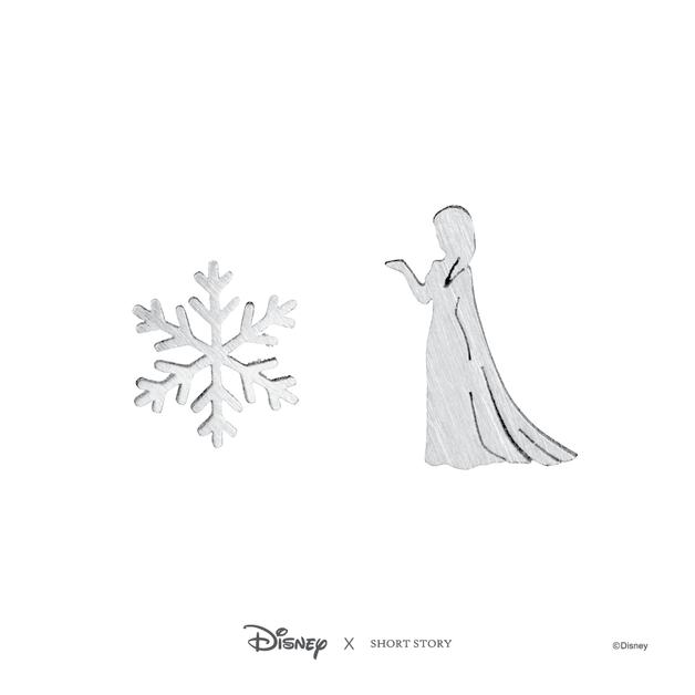 Short Story: Disney Earring Elsa Snowflake - Silver