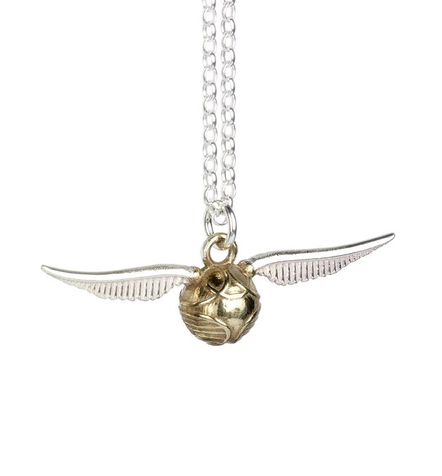 The Carat Shop: Harry Potter Golden Snitch Charm Necklace in Sterling Silver