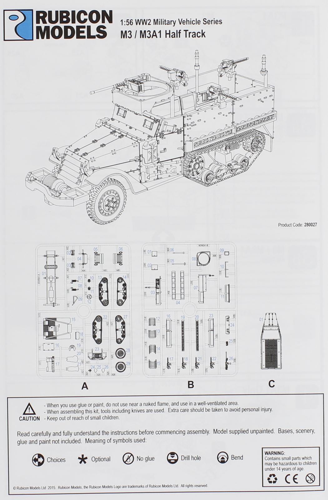 Rubicon 1/56 M3 / M3A1 Half Track image