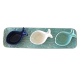 Atlantic Fishy Serve Tray And Condiment - Set of 3