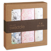 Aden + Anais: Meadowlark Silky Soft Swaddles (3-pack) image