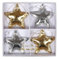 Gold & Silver Star Decorations