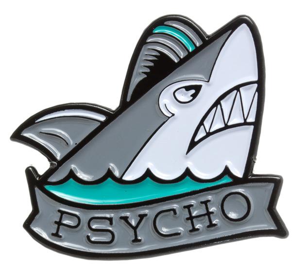 Sourpuss: Psycho Shark Enamel Pin