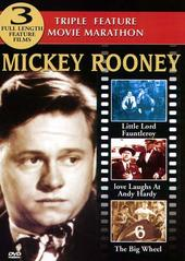 Mickey Rooney Triple Feature (Little Lord Fauntleroy, Love Laughs At Andy Hardy, The Big Wheel) on DVD