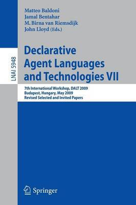 Declarative Agent Languages and Technologies VII image
