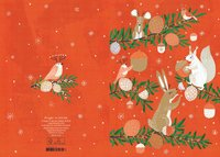 Roger La Borde: Gold Foil Card - Squirrel Christmas (5 Pack)