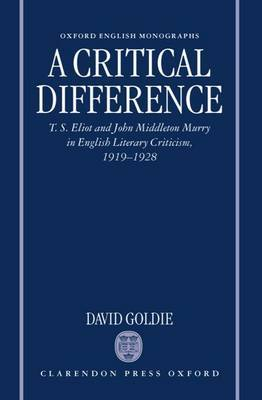 A Critical Difference by David Goldie