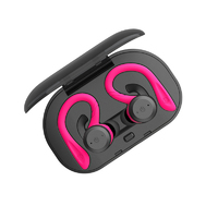 True Wireless Sports Earbuds with Charging Case - Hot Pink