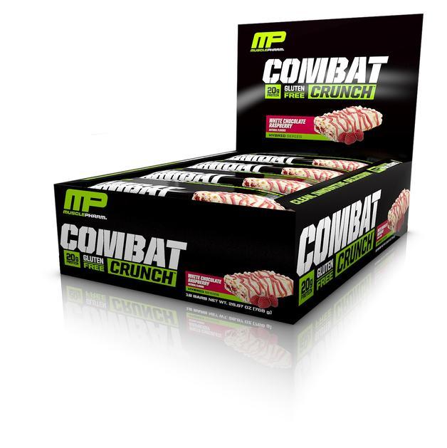 MusclePharm Combat Crunch Bar - White Chocolate Raspberry (Box of 12)