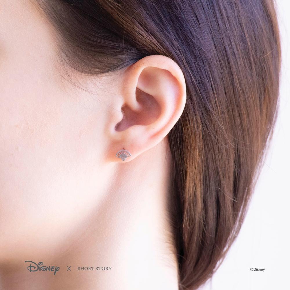 Short Story: Disney Earring Mulan Fan and Sword - Silver image