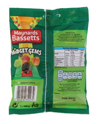 Maynards: Bassetts Midget Gems 160g (12 Pack)